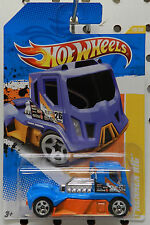 2011 11 RENNEN RIG JET POWER RACE 19 BLUE ORANGE TRUCK HW HOT WHEELS