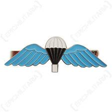 Britannica Dei Paracadute Ali GRANDE FERMACRAVATTA Blu Smaltato Military Stile