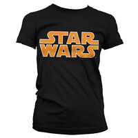 Officially Licensed Star Wars Classic Logo Women T-Shirt S-XXL Sizes