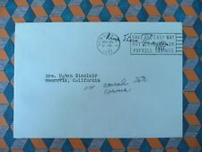 ELEANOR ROOSEVELT free frank envelope with her stamped signature WW2 FDR signed