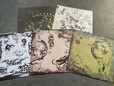 "Bundle Of Five 12x12"" Mixed Dragon Enchanted Scrapbooking Paper Sheets"