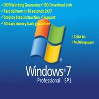 Windows 7 Professional 32+64 bit OEM Product Key Win 7 Pro fast Shipping 29s