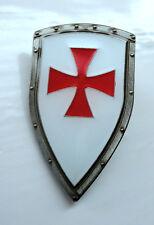 ZP413 Knights Templar Shield Crusader St George Cross Pin Badge Medieval