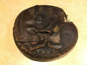 Early 1900s Reach Catcher's Mitt 5A buckle back antique vintage glove