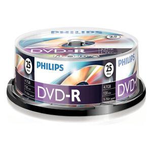 25er Spindel Philips DVD-R 4,7 GB Rohlinge 120 Minuten Aufnahmezeit 16x Speed