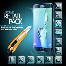 9 H protector de pantalla LCD al por menor de vidrio templado para Samsung Galaxy S6 Edge + Plus