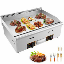 Commercial Restaurant Gas Grill Countertop Flat Top HeavyDuty Grill Food Griddle