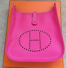 Bnib Hermes Evelyne III 33 Gm Pink Rose Tyrien Fuschia Epsom Crossbody Bag