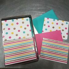 Blank Cards with Envelopes, Dots and Stripes (50-Count) - ***50% off Retail