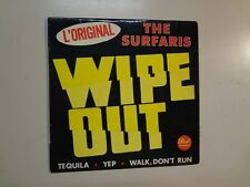 "SURFARIS: Wipe Out +3-France 7"" 1966 Dot Records Disques Vogue VDEP 34019 EP CV"
