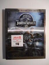 Jurassic World (Blu-ray/DVD, 3D 2015 Digital Copy) Target W/Lenticular Slipcover