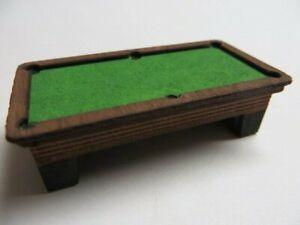 O scale Pool Table Billards Laser Cut Kit for bar 1/48 Diorama layout