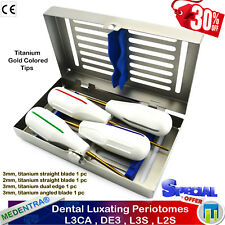 X4 Luxating Periotomes KIT Root Extracting Elévateur-PérioTome-de-Luxation+Tray