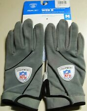 Reebok NFL Football Gloves Web II Col, Size XL, Grey Receiver + RB