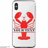 Custom Lobster Monogram Personalized iPhone 11 / Galaxy Clear Phone Case