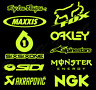 10 X Motocross MX Racing Sticker Kit - Sponsors Decals Fluorescent YELLOW Vinyl