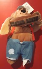 Disney Country Critters Fred Mini Bean Bag Beanie with Tags Harmonica Musician
