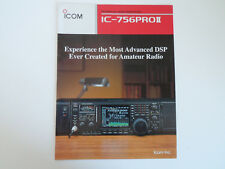 ICOM-756 PRO 2 (GENUINE BROCHURE ONLY)..........RADIO_TRADER_IRELAND.
