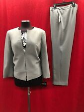 "KASPER PANT SUIT/INSEAM32""/STEEL GREY/SIZE 18/TANK NOT INCLUDED/RETAIL$240"