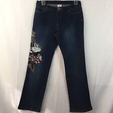 Disney Store Size 12 Women's Minnie Mouse Screen Print Denim Jeans