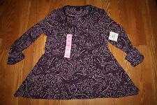 NWT Womens RAFAELLA Purple Paisley Print Zipper Tunic Shirt Top Sz Medium M $65