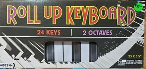 """Roll-up Piano Keyboard 24 Keys 2 Octaves 23""""x5.5' Age 6+ Beginner Toy Piano Kids"""