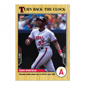 🛑 DAVE WINFIELD 2021 TOPPS NOW TURN BACK THE CLOCK #85 CALIFORNIA ANGELS 🔥