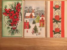 Three Vintage Collectible Christmas Cards, Made in Usa 5X Series 1901,1916,1078