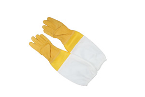 Large Yellow Bee Keepers Leather Gloves with Ventilation