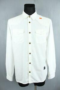Scotch&Soda BNWT Cream White Denim Collared Button-Up Long Sleeve Shirt Size XL