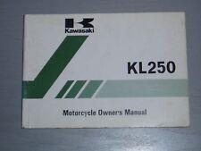 KAWASAKI KL250-A5 OWNERS MANUAL