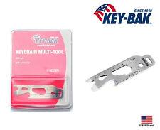 Key-Bak Stainless Steel KeyChain Multi-Tool 8 Function Tools