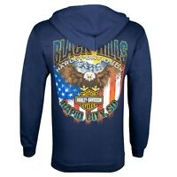 Black Hills Harley-Davidson Men's Navy Patriot Zip-Up Hoodie Sweatshirt