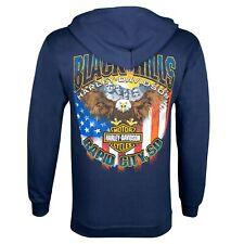 Black Hills Harley-Davidson Men's Navy Patriot Zip-Up Hoodie Sweatshirt