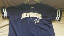 Milwaukee Brewers Authentic Jersey18-20 & 1 Brewers Dri Fit Authentic M/M T-NWOT