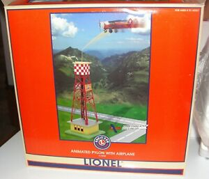 Lionel Animated Pylon w/Airplane & Banner #6-32920 - MIB