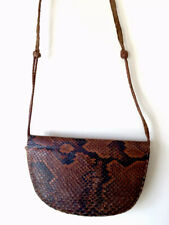 Vintage Snake Skin & Leather Sholder Bag Boho Hippy Festivl