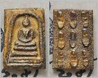 Antiques Phra Somdej  LP Toh Back Phra Rod Thai Buddha Amulet  P62