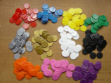 Counters, 20 mm diameter, Tiddlywinks / Board Games,Brand New, Various colours