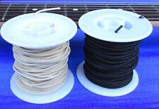 GAVITT tinned Cloth Push Back Guitar Wire 100 Feet =  50ft BLACK & 50ft WHITE
