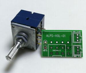 Japan ALPS RK27 Dual Unit Knurled Shaft LOG Stereo Volume Potentiometer + PCB