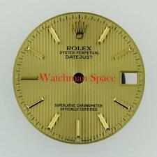 Genuine Rolex Midsize Datejust 6827 68278 Champagne Tapestry Stick Dial 2/T #C33