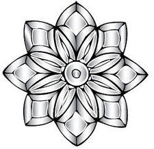 Victorian Flower Clear Glass Bevel Cluster - 17 Piece Design