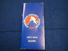 1977 78 AHL hockey guide    American Hockey League