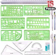 Hilitchi 16 Pcs Pack Plastic Measuring Templates Building Formwork Stencils Geom