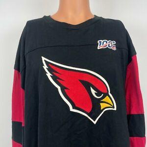Mitchell And Ness Arizona Cardinals NFL 100 Team Embroidered Sweatshirt Size 5XL