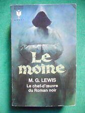 LE MOINE  THE MONK MATTHEW GREGORY LEWIS MARABOUT G 267  ROMAN GOTHIQUE