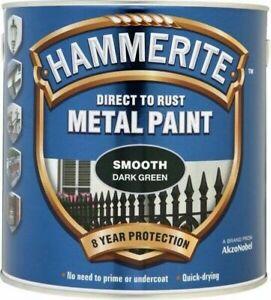Hammerite METAL PAINT SMOOTH DARK GREEN 2.5L