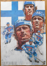 1976 Canada Cup Team Finland Poster, Honest Effort (one win and four losses)...