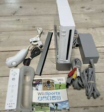 Nintendo Wii White Console Bundle with Wii Sports Game - Tested and Working!